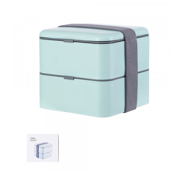 Double Layer Lunch Box - Mint Blue