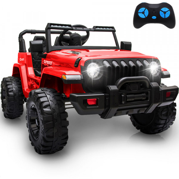 12V Kids Electric Car Ride On Cars, Battery Powered Truck Wheels(Red)